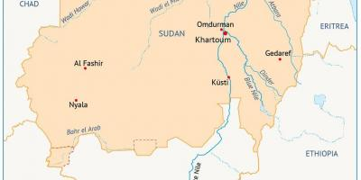 sudan kart Sudan kart   Kart Sudan (Nord Afrika   Afrika) sudan kart